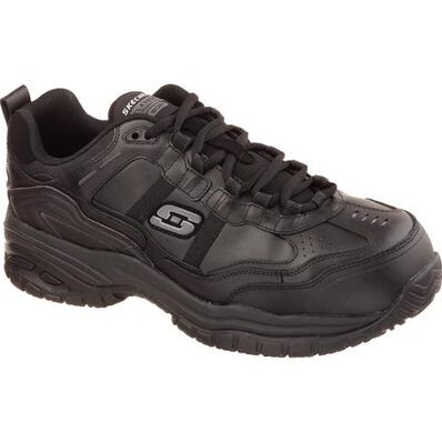 SKECHERS Work Soft Stride-Grinnel Men's Composite Toe Electrical Hazard Slip-Resistant Athletic Work Shoe, , large