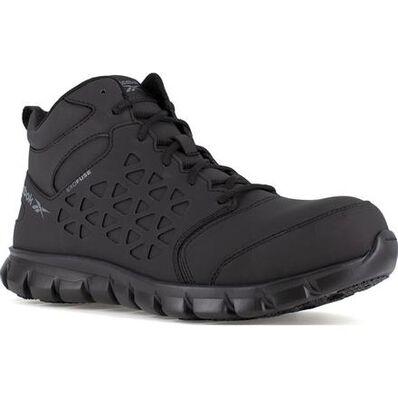 Reebok Sublite Cushion Work Mid Men's Composite Toe Electrical Hazard Athletic Shoe, , large