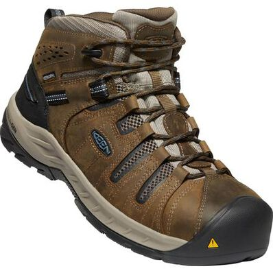 KEEN Utility® Flint II Mid Men's Steel Toe Electrical Hazard Waterproof Work Hiker, , large