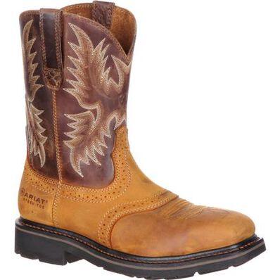 Ariat Sierra Wide Square Steel Toe Western Work Boot, , large