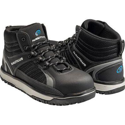 Nautilus Urban Mid Men's Alloy Toe Electrical Hazard Hi-Top Athletic Work Shoe, , large