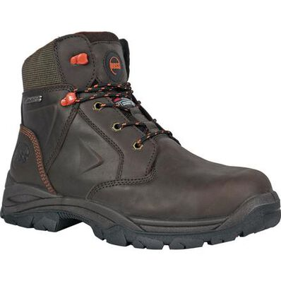 HOSS Hudson Men's 400G Insulated Composite Toe Electrical Hazard Puncture-Resisting Waterproof Leather Work Boot, , large