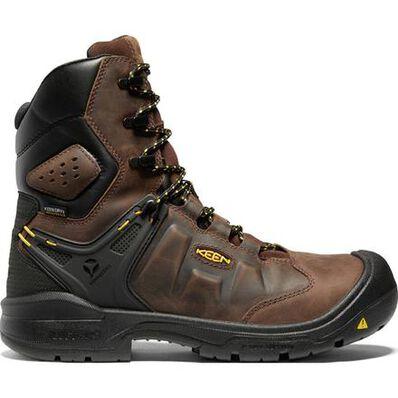 KEEN Utility® Dover Men's 8 Inch Carbon-Fiber Toe Electrical Hazard Waterproof Work Boot, , large