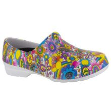 Easy WORKS by Easy Street Kris Bright Multi Floral Women's Slip-Resistant Slip-on Shoe
