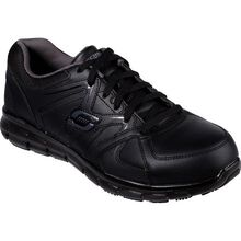 SKECHERS Work Synergy-Ekron Men's Alloy Toe Electrical Hazard Leather Athletic Work Shoe