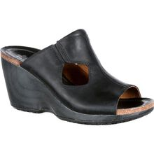 4EurSole Joyful Women's Black Leather Slide