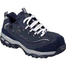 SKECHERS Work D'Lites Pooler Women's Alloy Toe Slip-Resistant Work Athletic Shoe