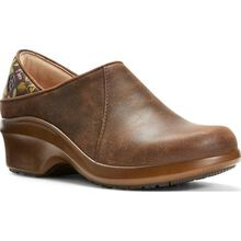 Ariat Expert Hera Women's Electrical Hazard Slip-Resistant Brown Leather Work Clog