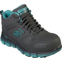 SKECHERS Work Telfin-Chedi Women's 5 inch Alloy Toe Static-Dissipative Slip-Resistant Athletic Work Shoe