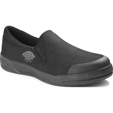 Dickies Supa Dupa Men's Steel Toe Electrical Hazard Canvas Slip-On Work Shoes, , large