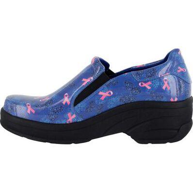 Easy WORKS by Easy Street Appreciate Women's Slip-Resistant Patent Slip-on Shoe, , large