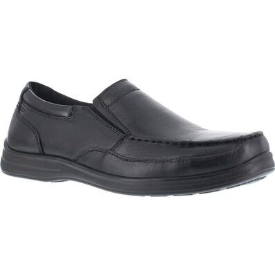 Florsheim Work Wily Steel Toe Static-Dissipative Work Slip-On Moc Toe Shoe, , large