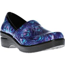 Easy WORKS by Easy Street Laurie Women's Purple Peacock Slip-Resisting Slip-on Work Shoe