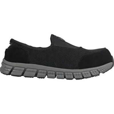 HOSS Meteorite Men's Composite Toe Electrical Hazard Slip-On Athletic Work Shoe, , large