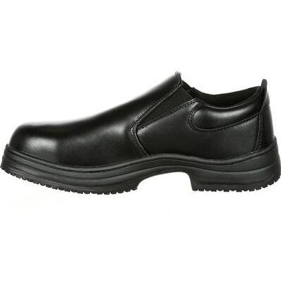 SlipGrips Steel Toe Slip-Resistant Slip-On Work Shoe, , large