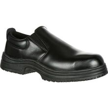 SlipGrips Steel Toe Slip-Resistant Slip-On Work Shoe