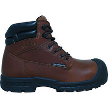 S Fellas by Genuine Grip Vulcan Men's 6 inch Composite Toe Puncture Resistant Waterproof Brown Leather Work Hiker