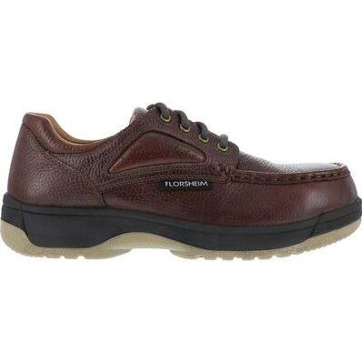 Florsheim Work Compadre Women's Steel Toe Static-Dissipative Work Eurocasual Moc Toe Oxford, , large