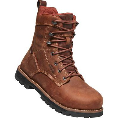 KEEN Utility® Seattle Women's 8 Inch Aluminum Toe Electrical Hazard Waterproof Work Boots, , large