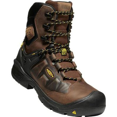 KEEN Utility® Dover Men's 8 Inch 600G Insulated Carbon-Fiber Toe Electrical Hazard Waterproof Work Boot, , large