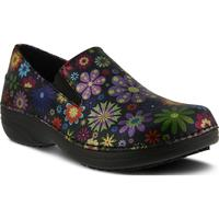 Spring Step Manila Flower Power Women's Slip-Resistant Leather Slip-On Shoe, , medium