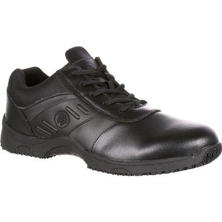 SlipGrips Stride Plain Toe Lace-Up Slip Resistant Athletic Shoe, , large