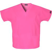 Cherokee Women's Shocking Pink V-Neck Top, , medium
