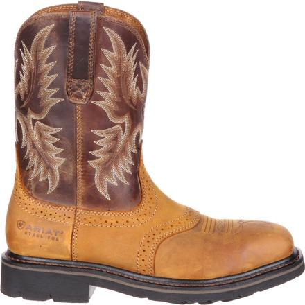 Ariat Sierra Wide Square Steel Toe Western Work Boot, , large