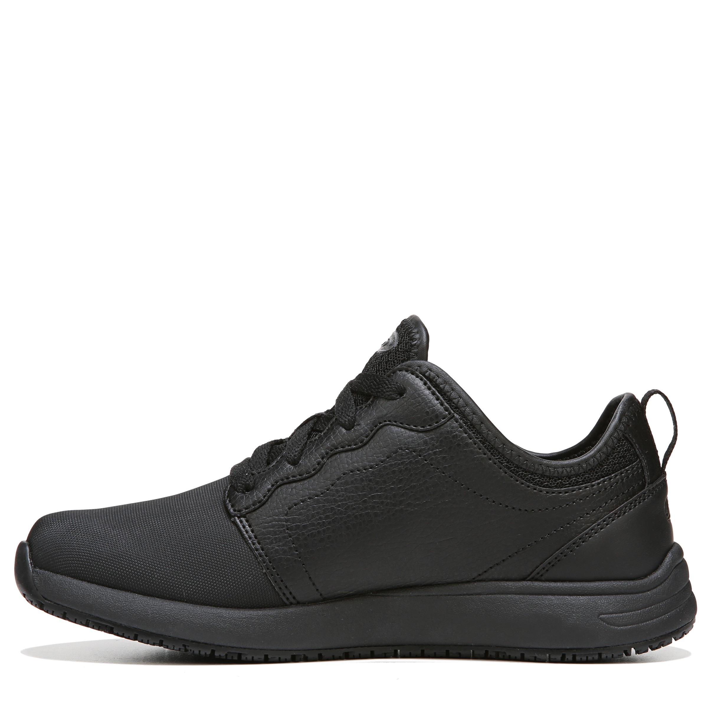 31471cccaeb Dr. Scholl s Drive Women s Slip Resistant Black Athletic Work Shoe ...