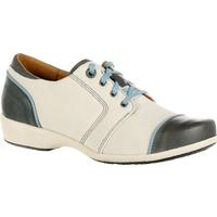 4EurSole Rococo Women's Blue and Cream Low Wedge Lacer Shoe, , medium