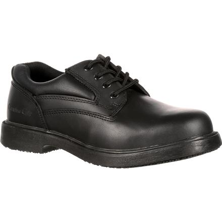Genuine Grip Steel Toe Slip-Resistant Oxford