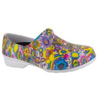 Easy WORKS by Easy Street Kris Bright Multi Floral Women's Slip-Resistant Slip-on Shoe, , medium