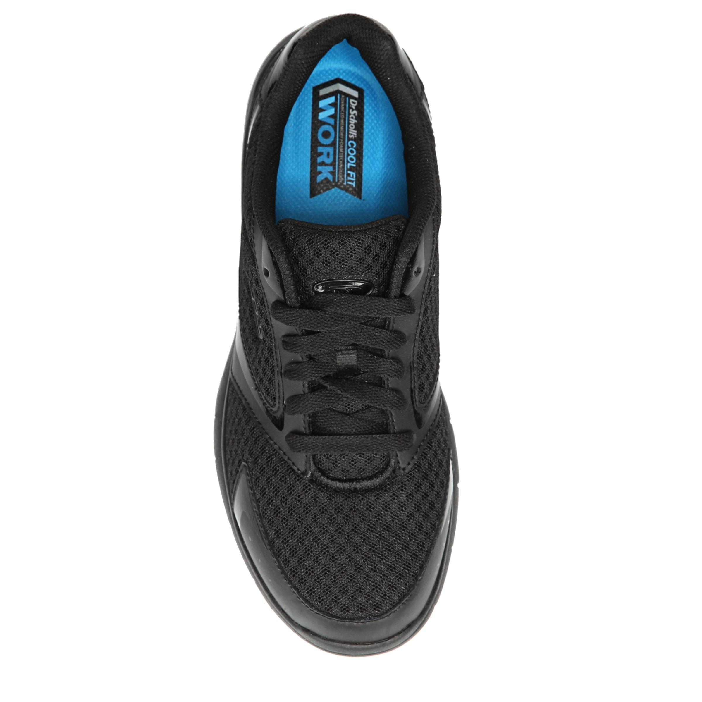 ecd0b1357324 Dr. Scholl s Inhale Women s Slip Resistant Black Athletic Work Shoe ...
