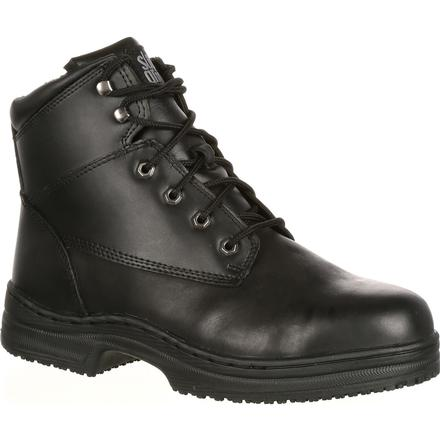 SlipGrips Steel Toe Slip-Resistant Work Boot