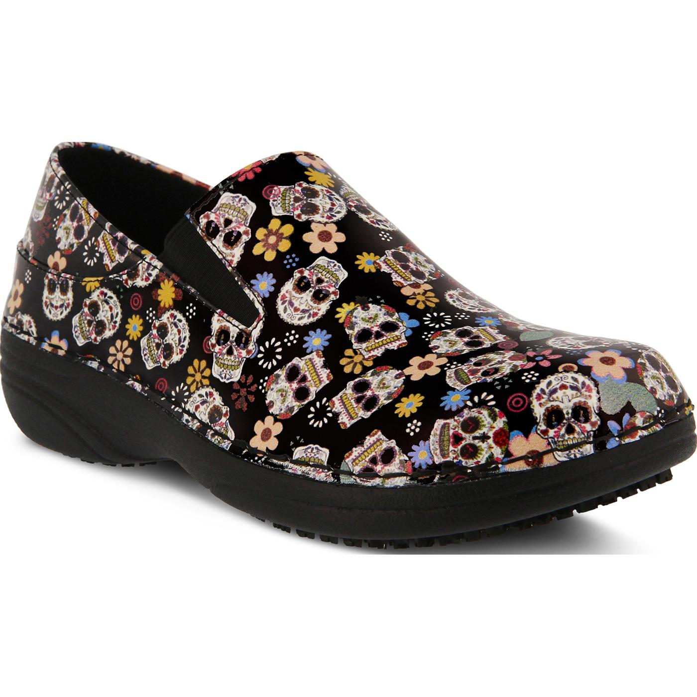 f8b7cd88de Spring Step Ferrara Small Sugar Skull Women's Slip-Resistant Slip-On Work  ShoeSpring Step Ferrara Small Sugar Skull Women's Slip-Resistant Slip-On  Work Shoe ...