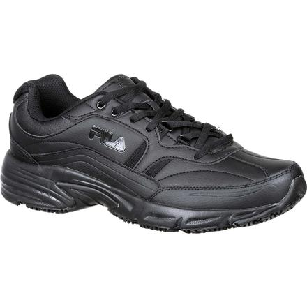 Fila Wide Memory Workshift Slip-Resistant Work Athletic Shoe, , large