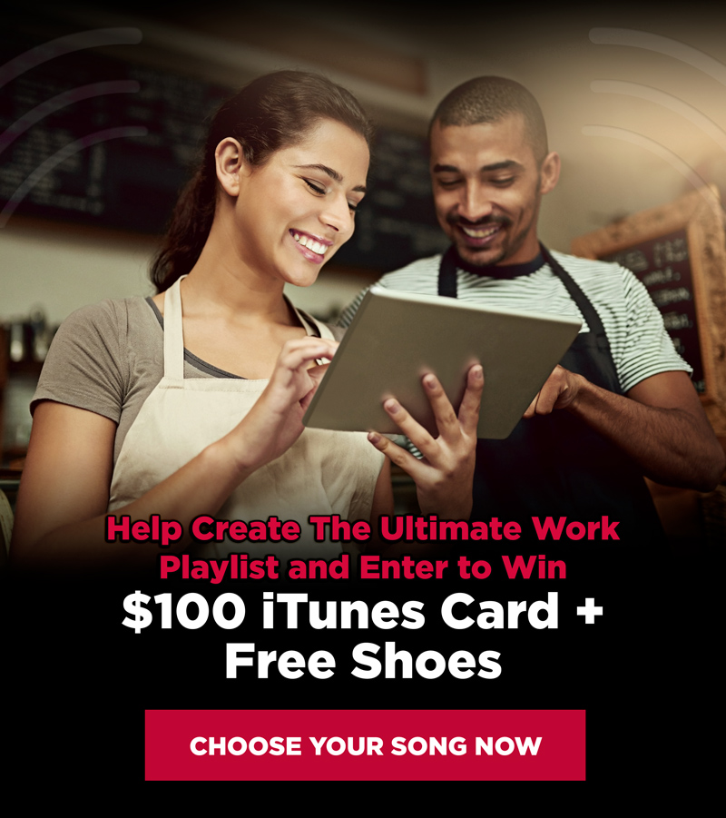 Help Create The Ultimate Work Playlist and Enter To Win a $100 iTunes Gift Card + Free Shoes!