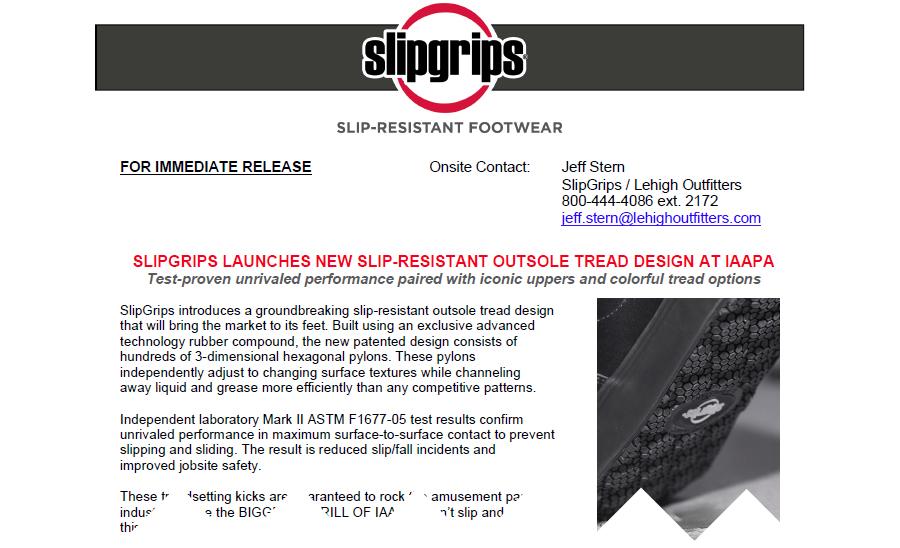 SlipGrips Press Release